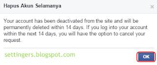 Cara menghapus akun facebook sendiri secara permanen atau selamanya