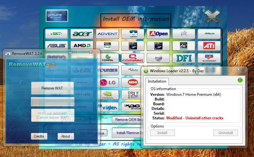 windows 7 activator hack