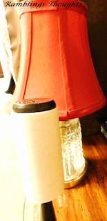 Ramblings Thoughts, Tip, Great Tip, Cleaning Tips, Life Hack, Fabric Lamp Shade, Cleaning