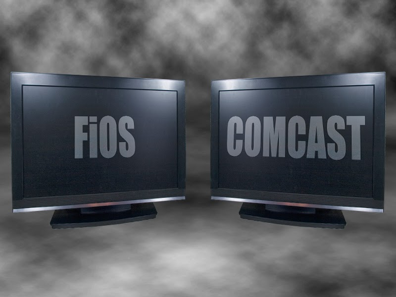 Choosing the cable TV company for your home.