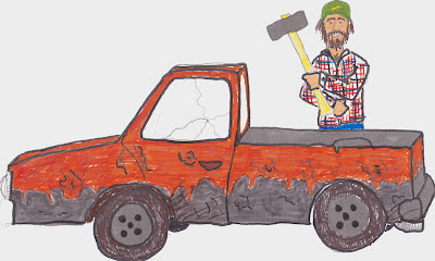 1989 Toyota pickup destroyed by sledgehammer