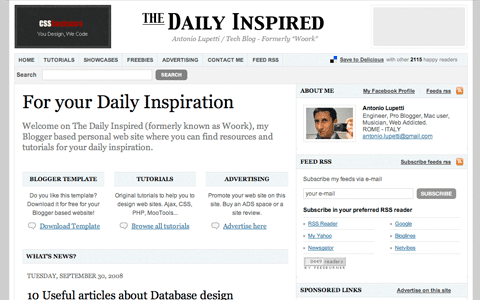 Daily Inspired Blogger Template