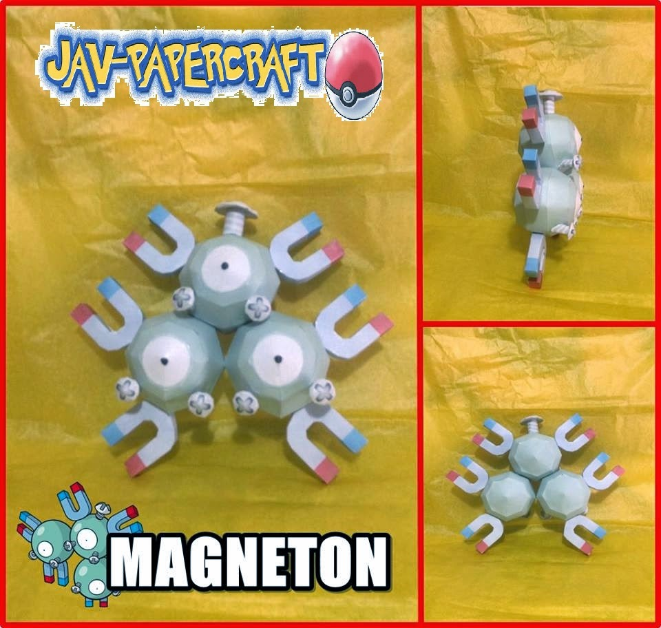 Magnemite and Magneton Paper Models
