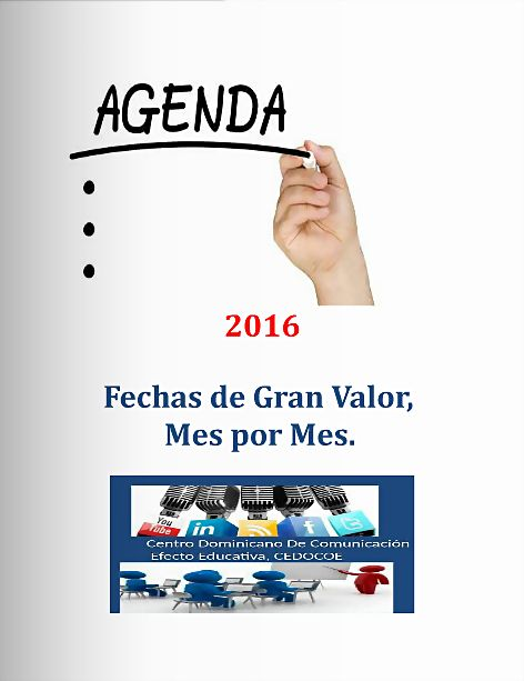 AGENDA DE FECHAS, 2016