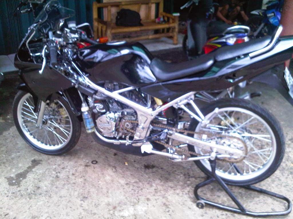 modifikasi motor ninja rr jari jari  Modifikasi Motor Ninja RR Jari Jari  Terbaru sukaon. Ninja R Modifikasi Jari Jari