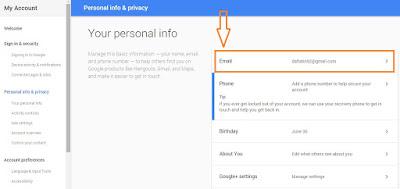 Cara Menambahkan Email Recovery GMail