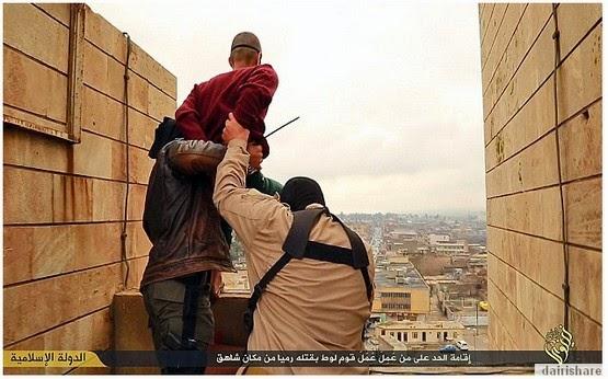 11Gambar Pesalah Di Iraq Di Hukum Campak Dari Banggunan Tinggi Lihat Apa Yang Terjadi Amat Menyayat Hati