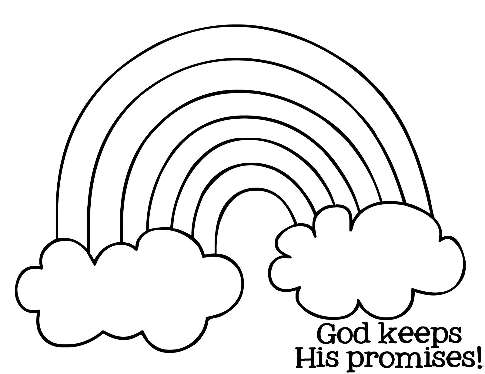 Free Noah Rainbow Coloring Pages