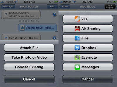 SendAny and ReceiveAny Cydia Tweaks