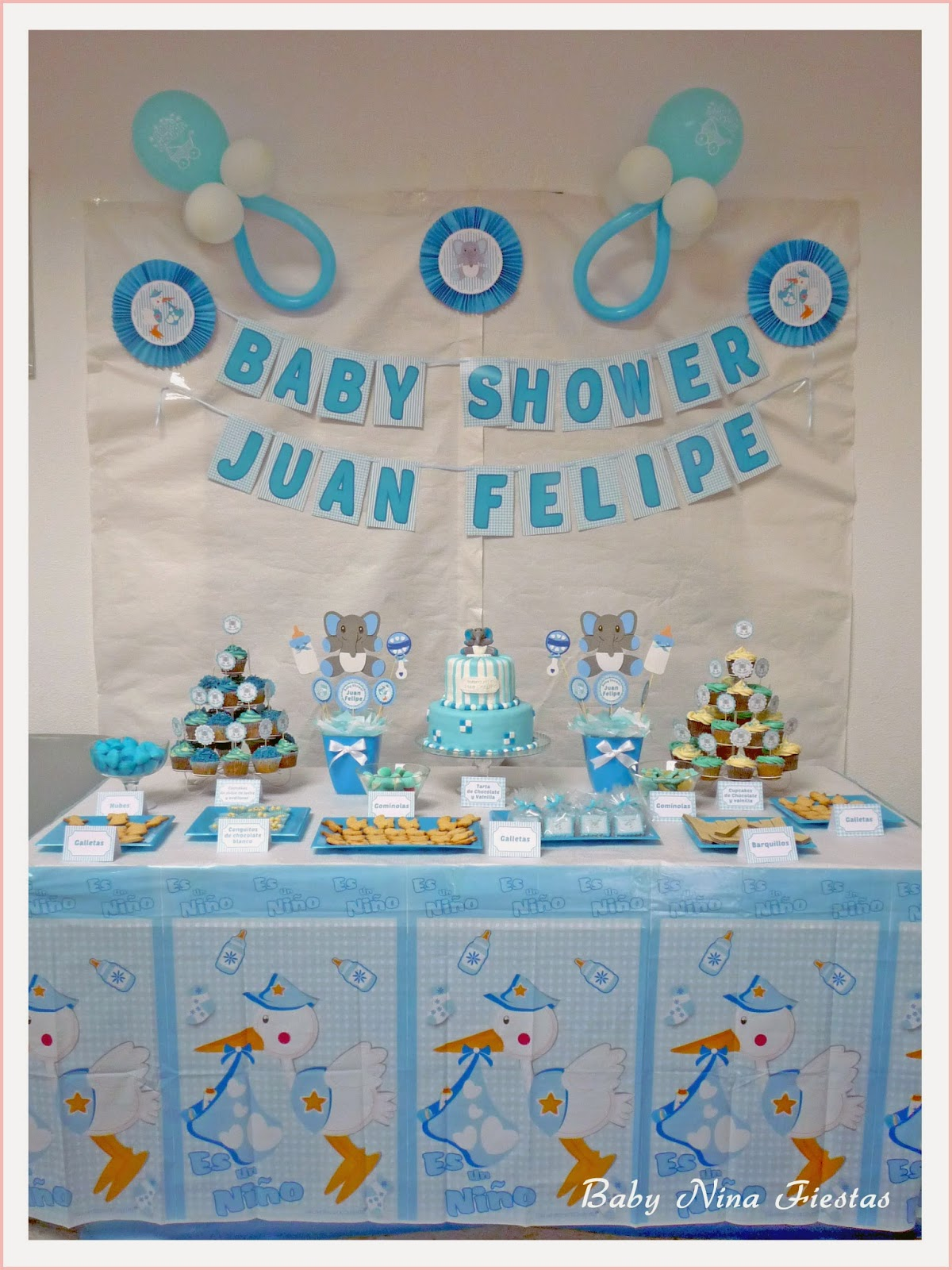 Baby nina fiestas baby shower juan felipe for Mesa baby shower nino
