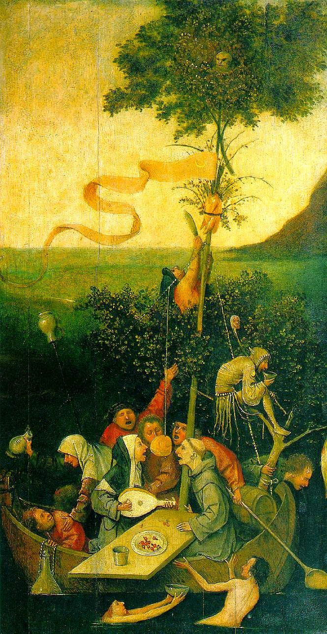 10 Out Of The Most Beautiful Paintings Of All Time - Ship Of Fools by Hieronymus Bosch (1490-1500)