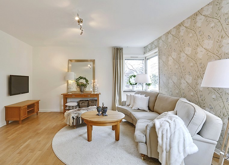Lovely Deco: Une même tapisserie dans tout l'appartement