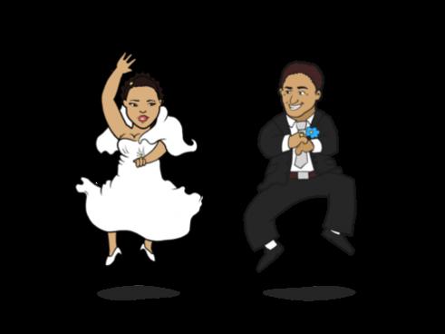 Wedding Couple Cartoon Dancing Related