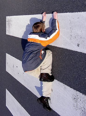 Climbing Wall Optical Illusion