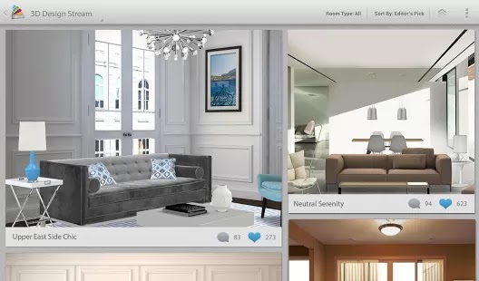 Decorate and style you home with this FREE ultimate Interior Decoration App for Android Devices : Homestyler