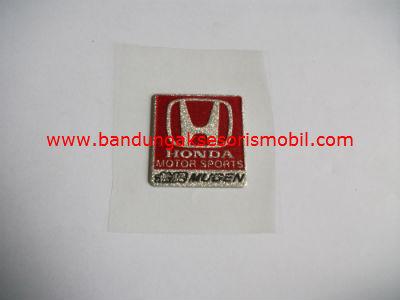 Emblem Metalic Kotak Kecil Honda
