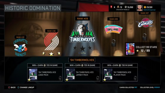 NBA 2k16 MyTeam Domination