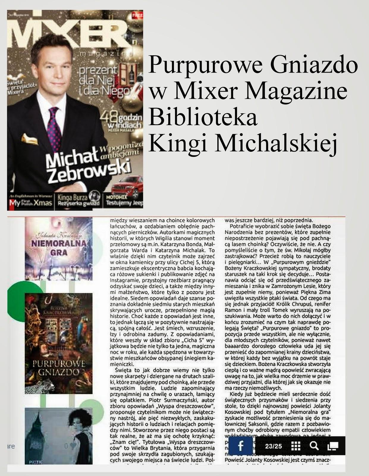 Purpurowe Gniazdo w Mixer Magazine nr7