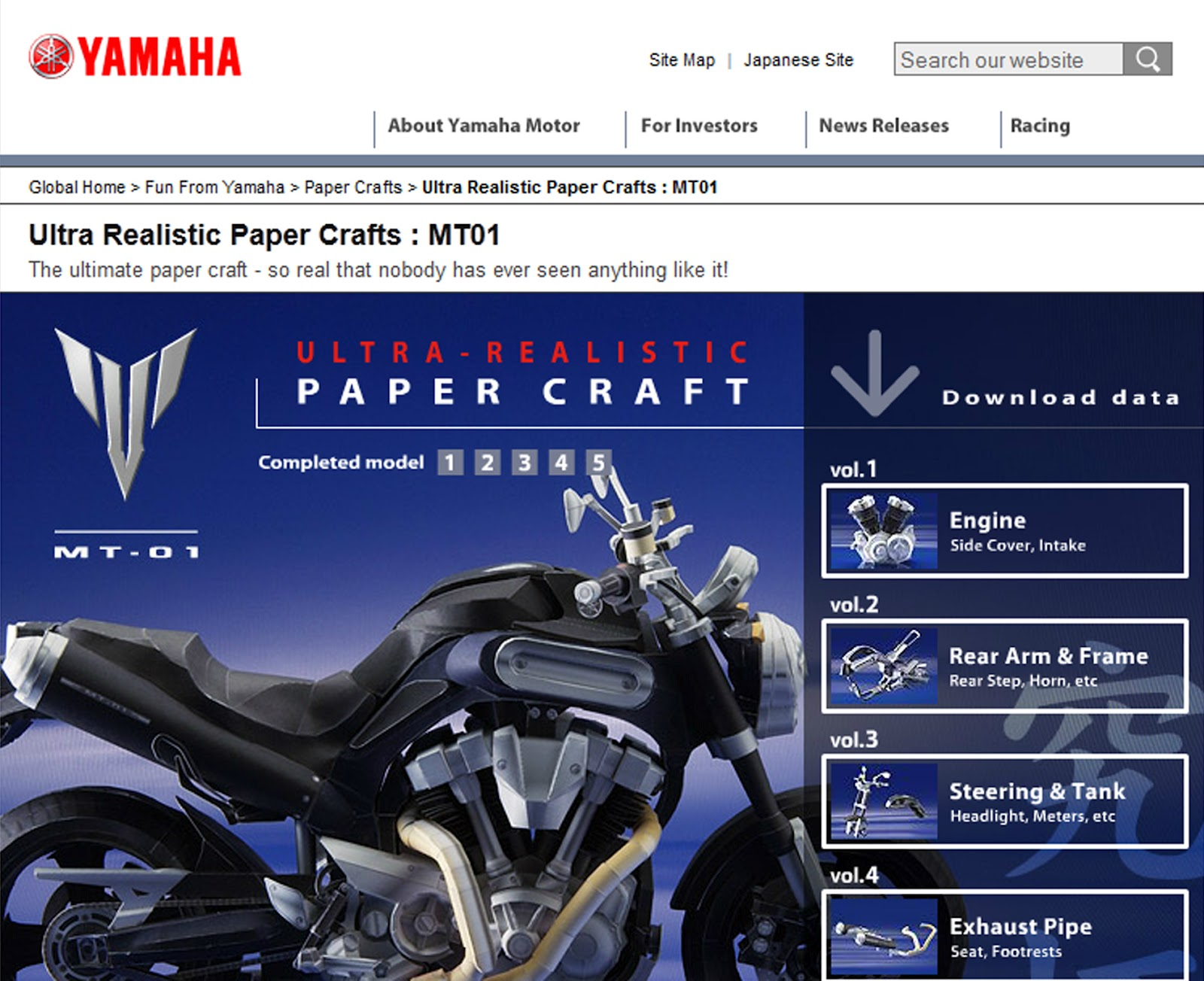 Scaled down yamaha has this webpage where you could download several paper model kits of selected motorcycles theyve produced for free all you need are some card jeuxipadfo Choice Image