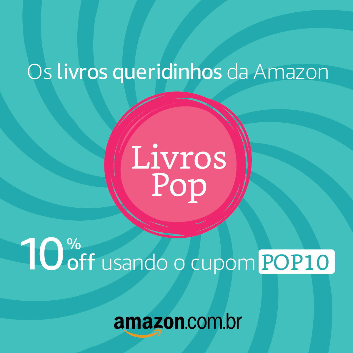 10% OFF COM O CUPOM POP10