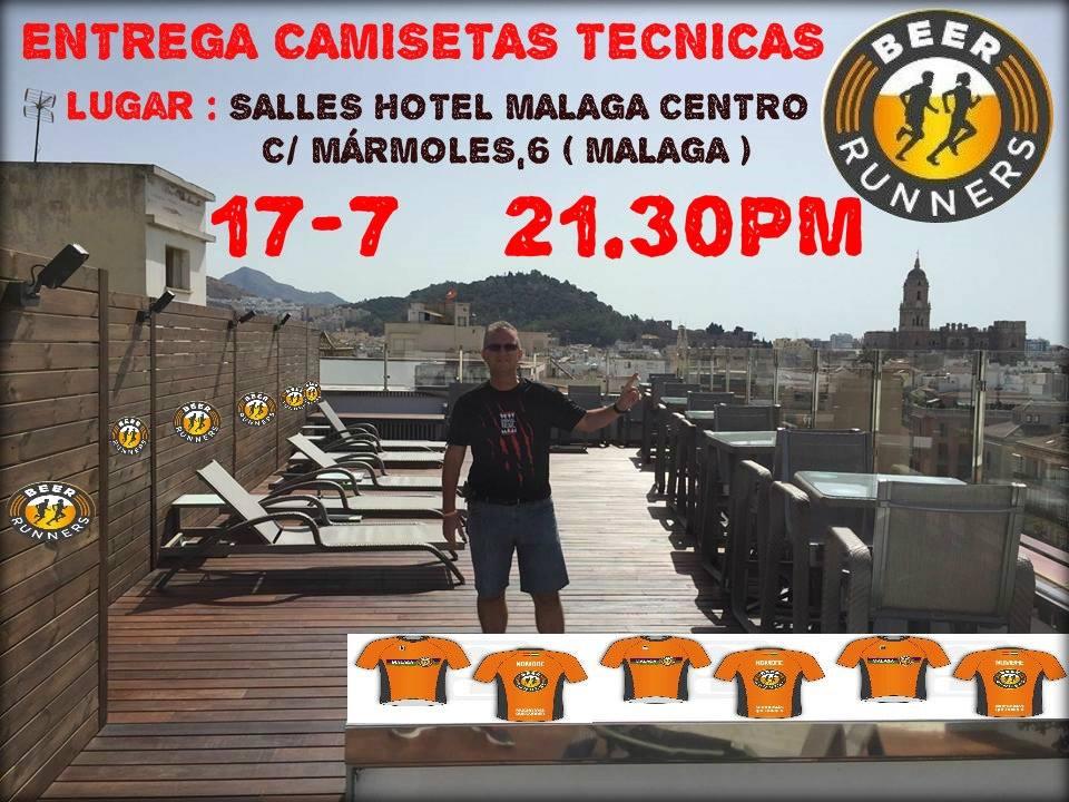 ENTREGA CAMSETAS TECNICAS OFICIALES BEER RUNNERS MALAGA