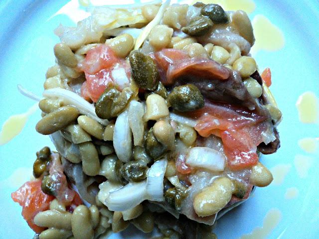 ensalada, verdinas, ahumados, pescado, legumbres, receta, casera