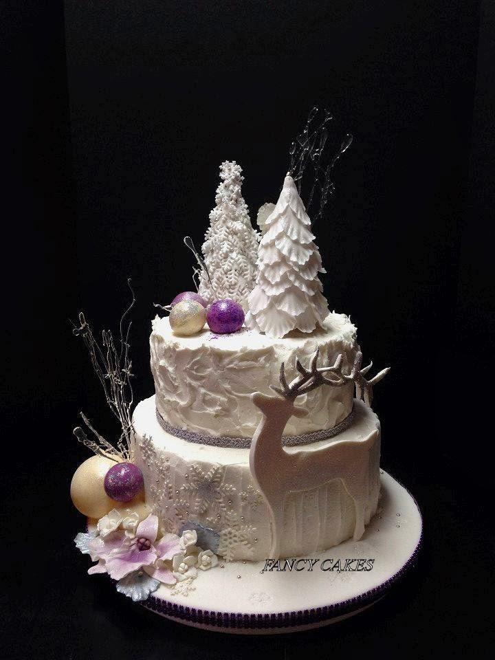 Fancy Cakes Fondant Winter Cake