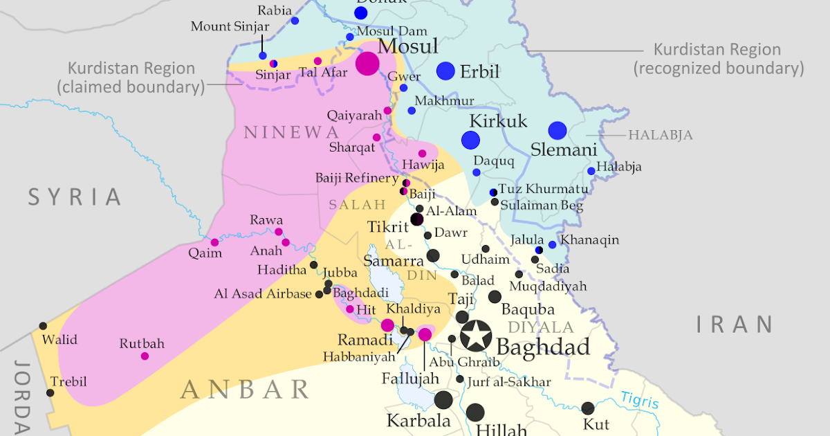 War in Iraq Map of Islamic State Control in May 2015 Political – Map If Iraq