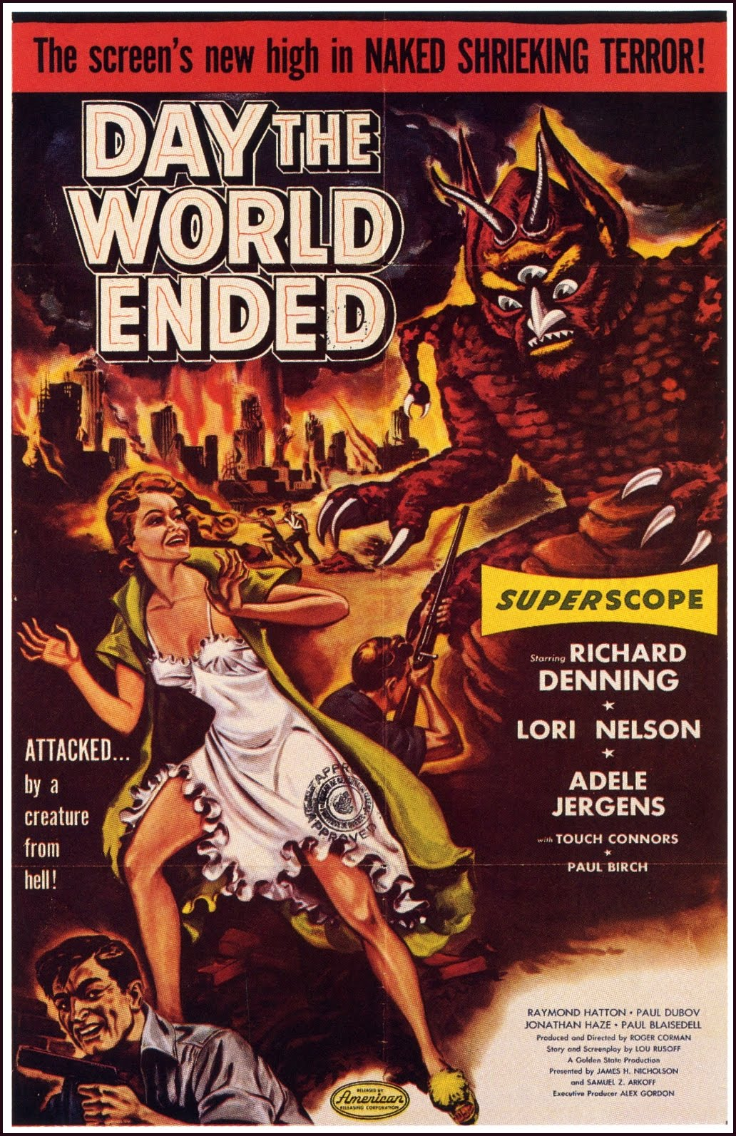 the day the world ended The day the world ended - in a world devastated by a wide-scale nuclear war, all that remains are teetering ruins and a handful of scrappy survivors.