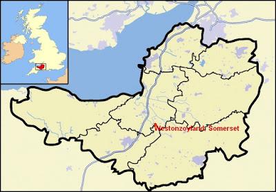 Map showing Westonzoyland