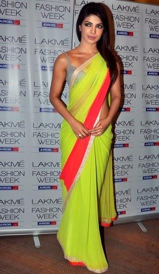priyanka chopra wearing saree - photo #18