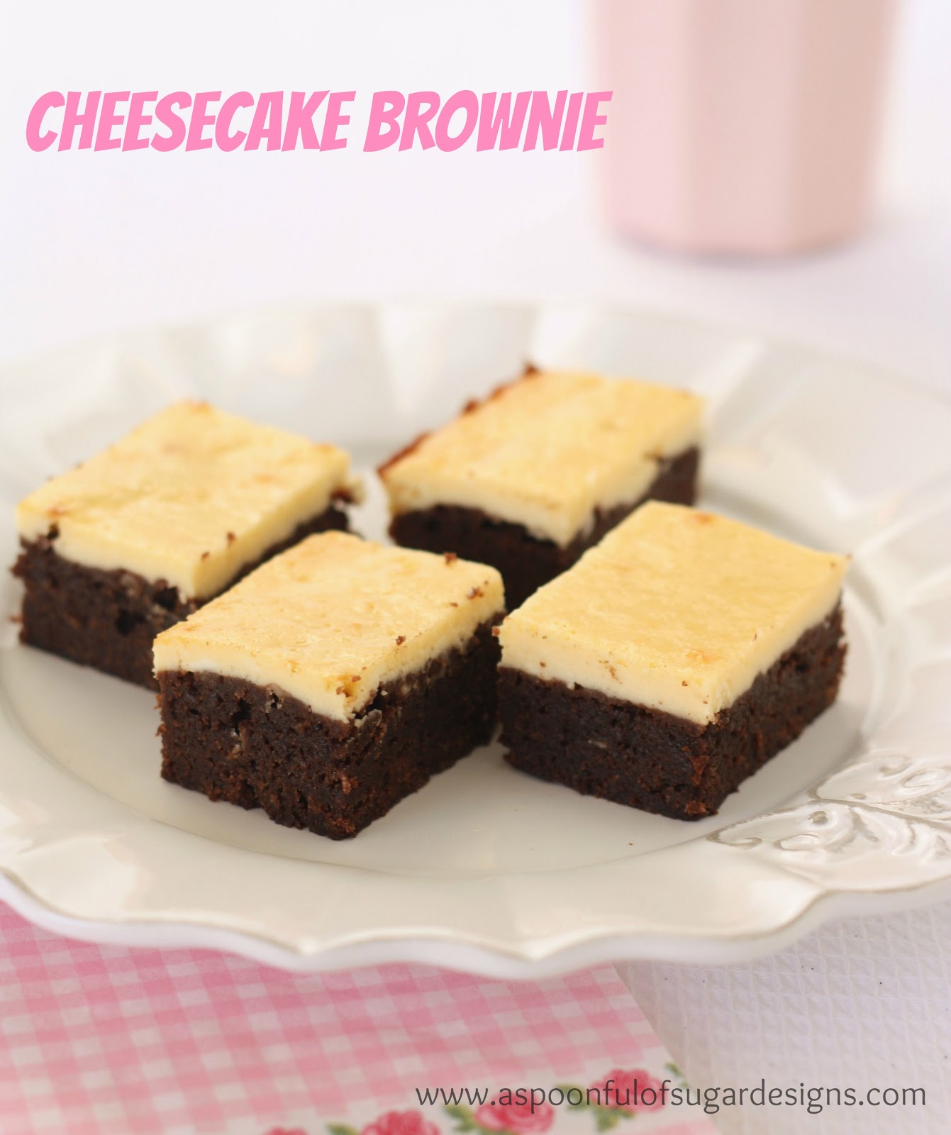 The Cheesecake Brownies have a rich chocolate brownie base with a ...