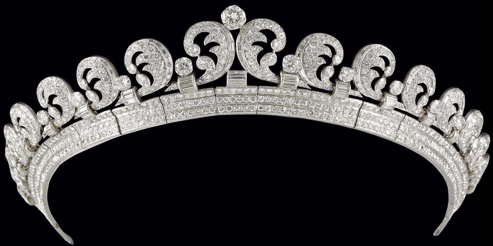 تيجان ملكية  امبراطورية فاخرة Scroll%2BTiara%2B(1936)%2Bby%2BCartier%2Bfrom%2BK%2BGeorge%2BVI%2Bfor%2BQ%2BElizabeth%2B1
