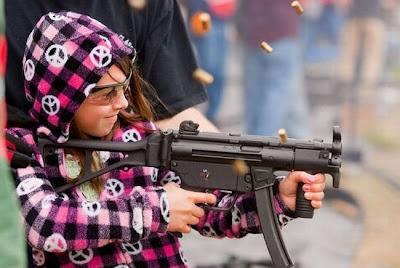 Niña pacifista