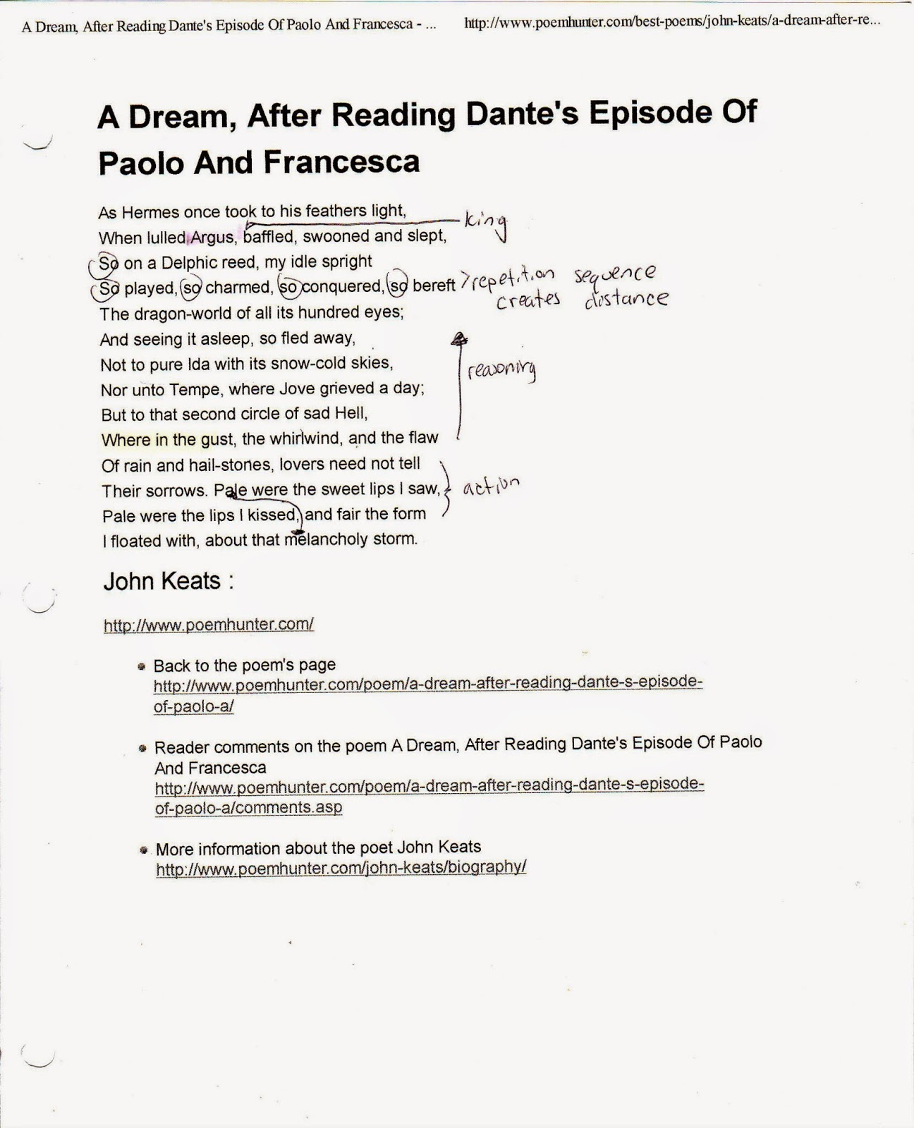 Essays Topics For High School Students Original Poem Reprinted Online Here A Dream After Reading Dantes  Episode Of Paolo And Francesca By John Keats More Information About The  Poet John  Professional College Admission Writers also Examples Of Argumentative Thesis Statements For Essays A Retail Life After The Mfa  Analysis Of A Dream After Reading  Good English Essays Examples