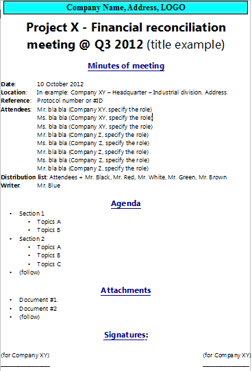 How to write minutes of meeting |The Project Manager Pad