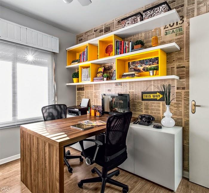 Arquitetura e design por daniela decora o biblioteca em for Home decor 4 u