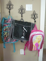 Backpacks ready for first day of school. Photo courtesy of Lisa Jones.