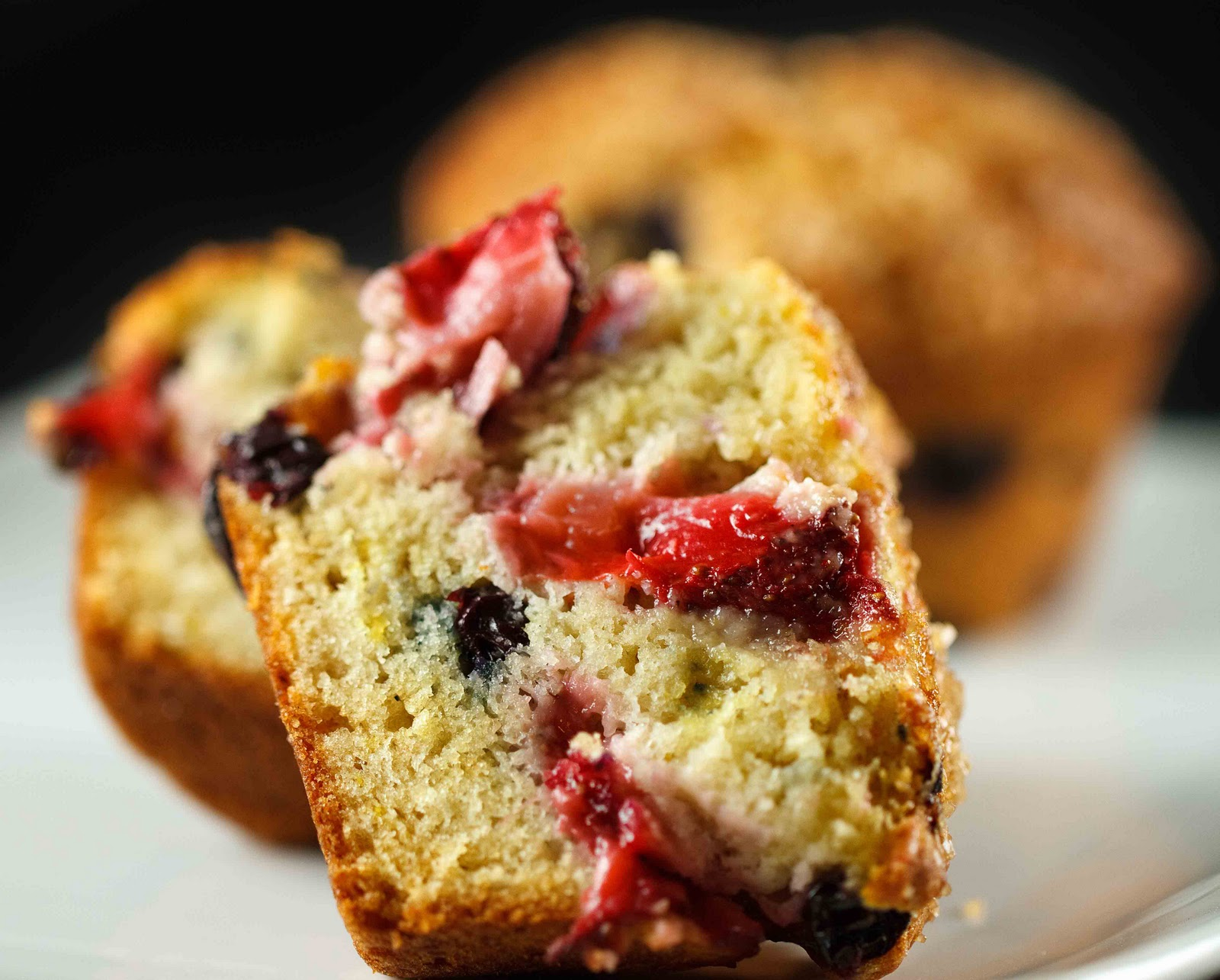... chobani called i made muffins not only muffins but very berry muffins