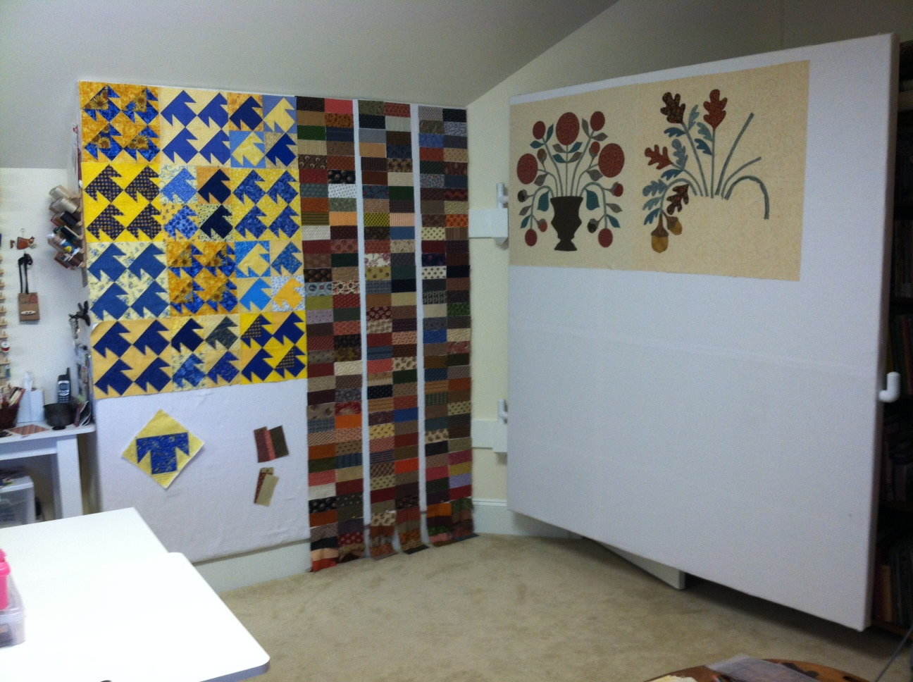 Design Wall For Quilting grammy quilts: an awesome hinged design wall mademy awesome