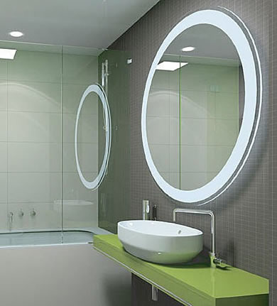 Round Bathroom Mirror With Shelves | Decorating Design Ideas