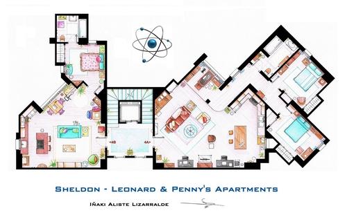 01-The-Big-Bang-Theory-Sheldon-Leonard-And-Penny-Apartment-Floor-Plan-Inaki-Aliste-Lizarralde