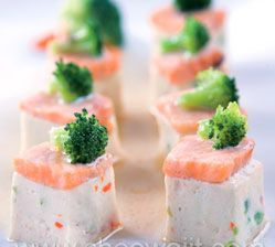 Silken tofu steamed with salmon recipe