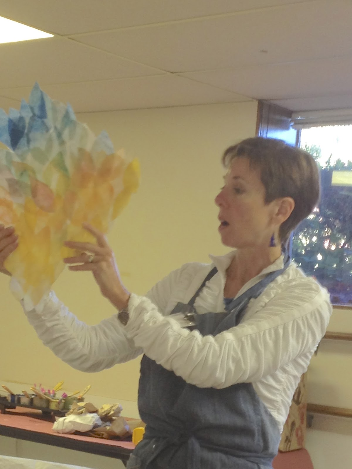 shary bartlett showing us a rainbow of leaves enrobed with encaustic - Enrob Color
