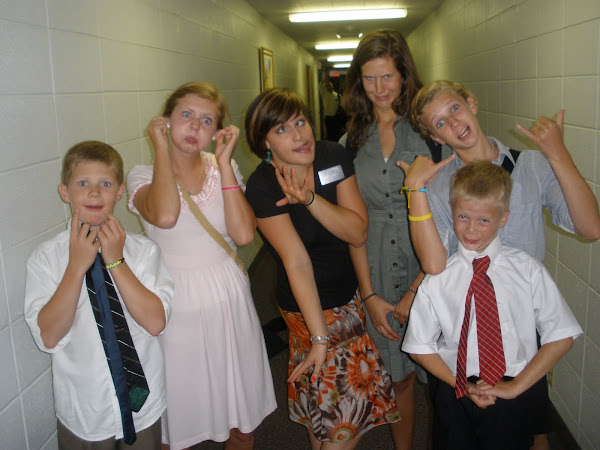 President Pingrees family and I making funny faces!