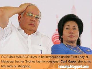 Najib Rosmah kaki shopping