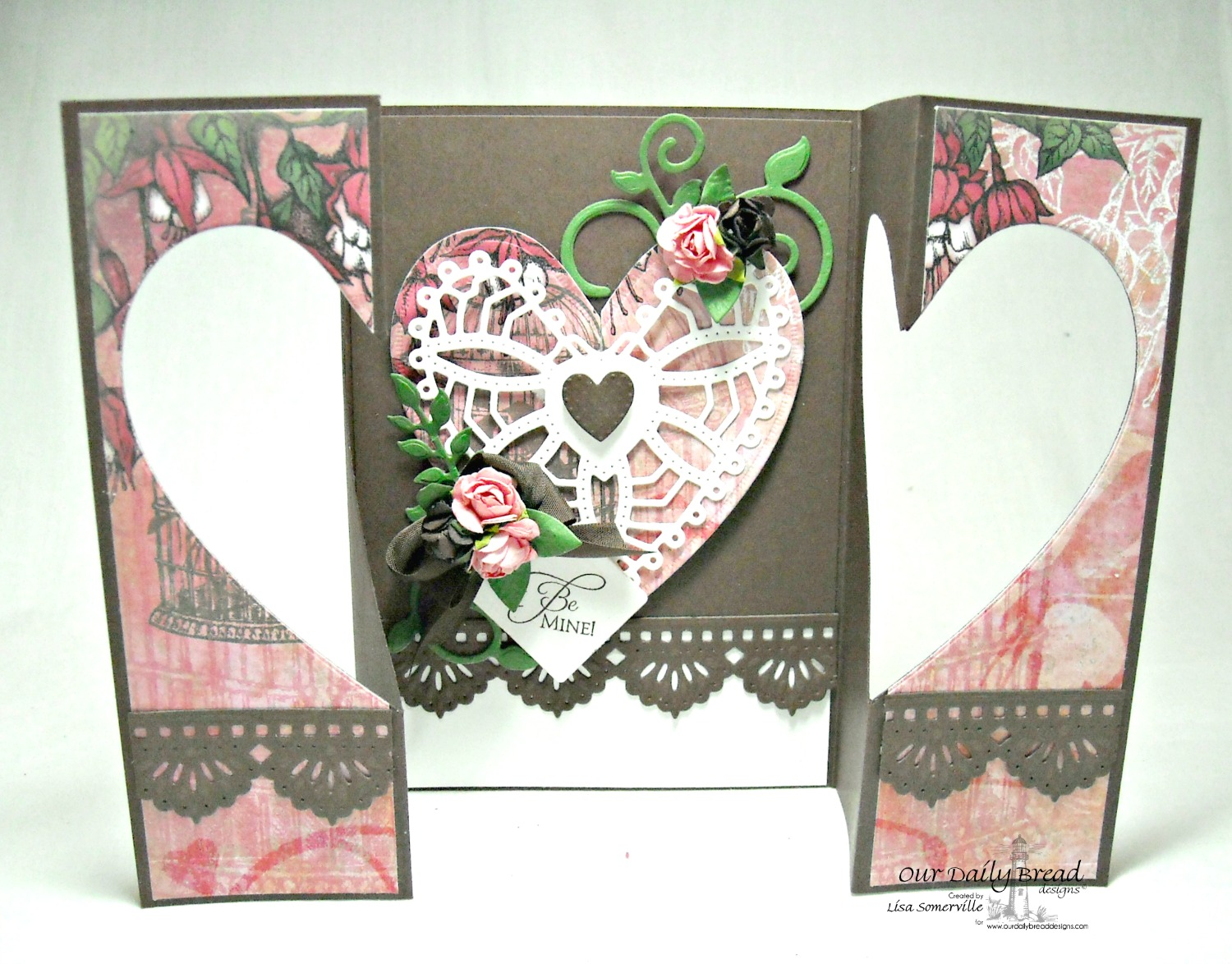 Stamps - Our Daily Bread Designs Be Mine, ODBD Heart and Soul Paper Collection, ODBD Custom Fancy Foliage Dies, ODBD Custom Ornate Hearts Die, ODBD Beautiful Borders Dies