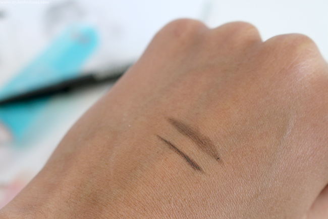 Maybelline Brow Satin in Dark Brown Swatches