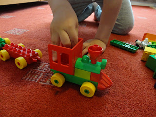 Building the Number Train from Lego Duplo