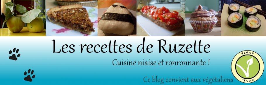Les recettes de Ruzette
